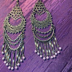 Jewelry - Ethnic Afghan Kuchi Gypsy Tribal Drop Earrings